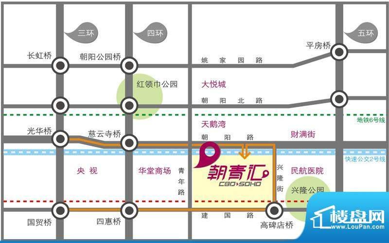 朝青汇交通图
