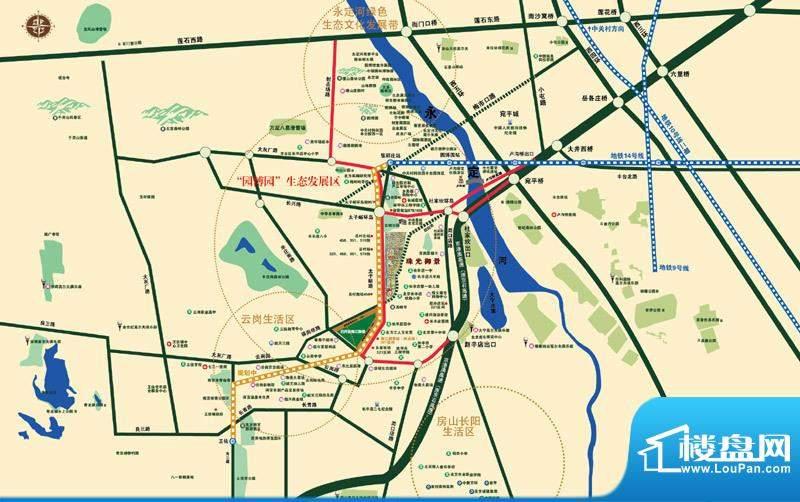 珠光御景交通图