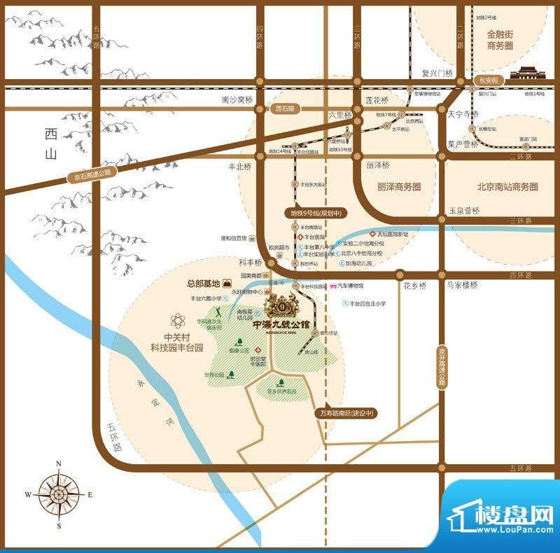 中海九号公馆(御龙府)交通图
