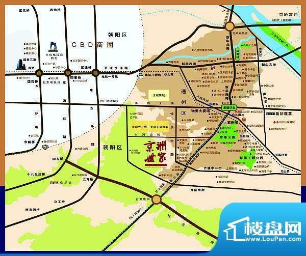 京洲世家位置图
