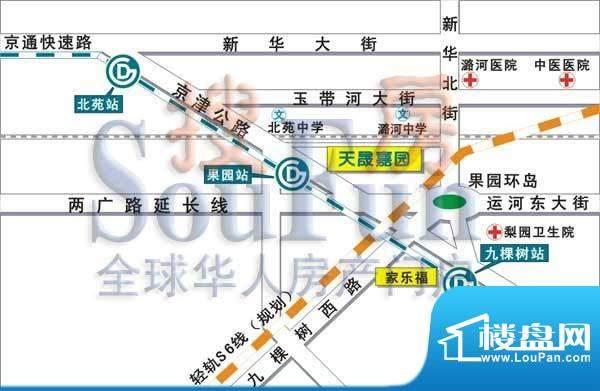 天晟嘉园交通图