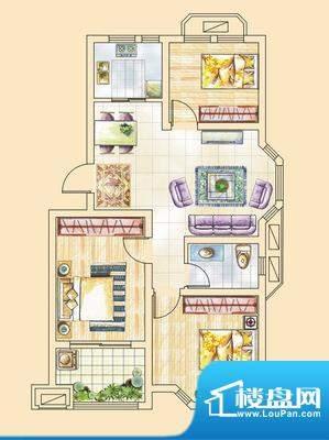 紫金花园 2室 户型图(2011081面积:91.00平米