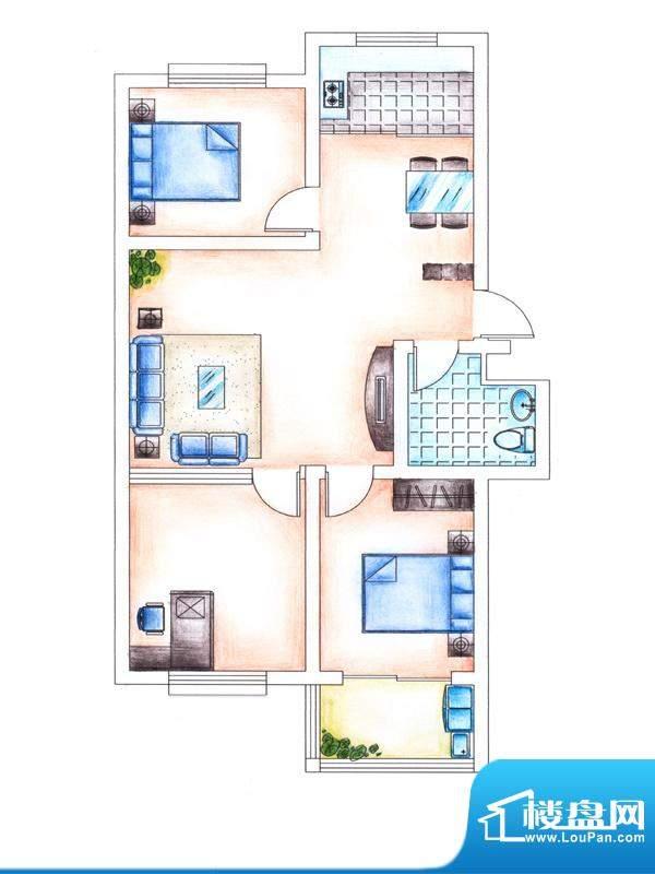 华安东方明珠二期住宅户型图 3