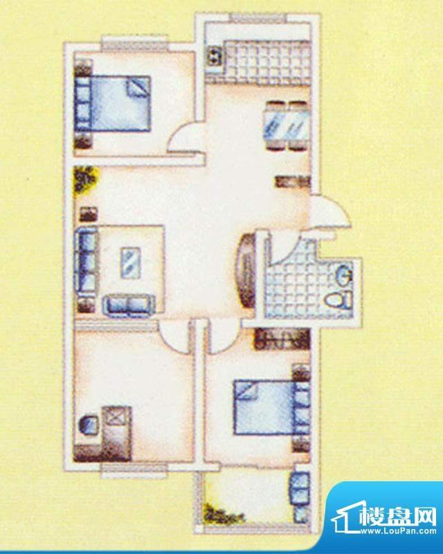 华安东方明珠一期28号楼户型图面积:84.00平米