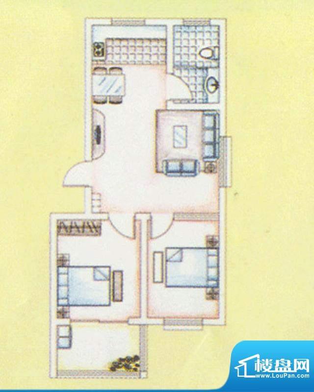 华安东方明珠一期29号楼户型图面积:75.00平米