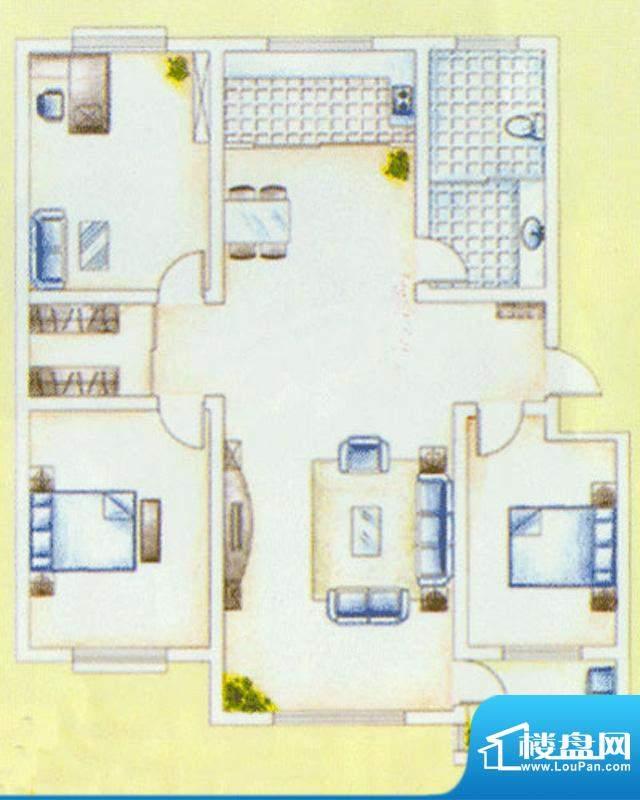华安东方明珠一期33号楼户型图面积:140.00平米