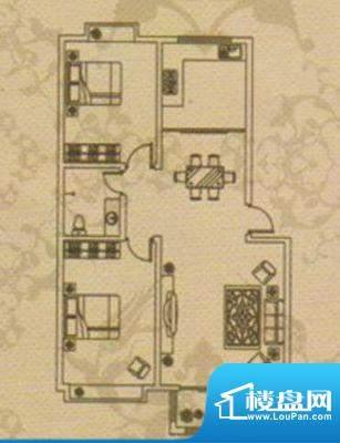 上河园 2室 户型图面积:114.00平米