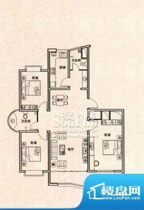 东方明珠户型A 3室2厅2卫1厨面积:152.93平米
