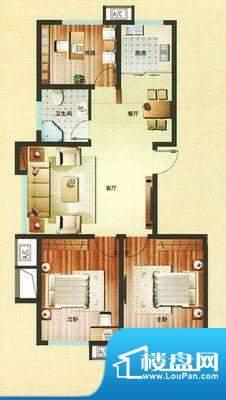 盛华园 3室 户型图面积:110.00平米