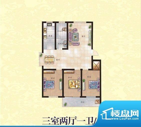 盛华园 3室 户型图面积:136.00平米