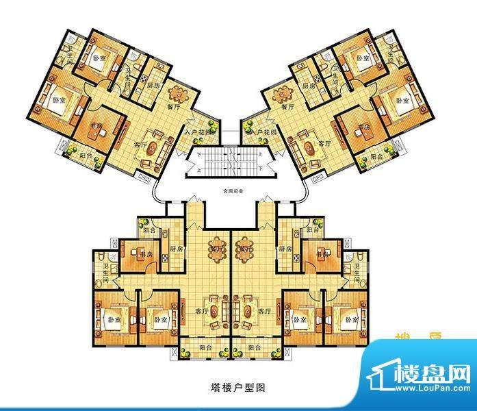 奥运城B5 塔楼户型图