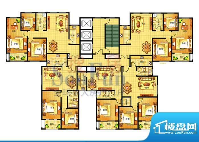 奥运城楼层平面图