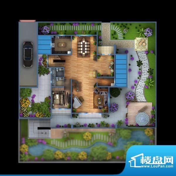 雍景新城独栋别墅V2--1F户型图