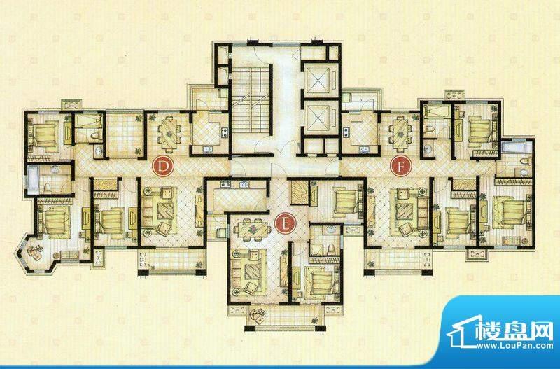 世茂东都2#,3#楼户型 4室2厅2面积:143.52平米