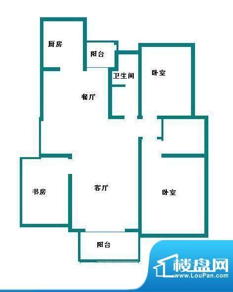 东南郡 3室 户型图面积:136.00平米
