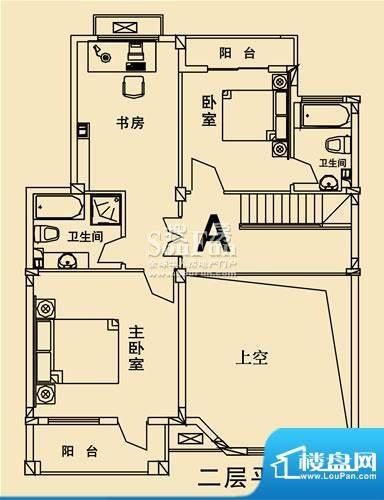 开元麓郡A户型 二层平面 4室2厅面积:241.42平米