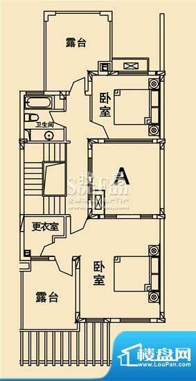 开元麓郡A户型 三层平面 4室3厅面积:299.22平米