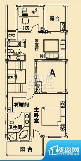 开元麓郡A户型 二层平面 4室3厅面积:299.22平米