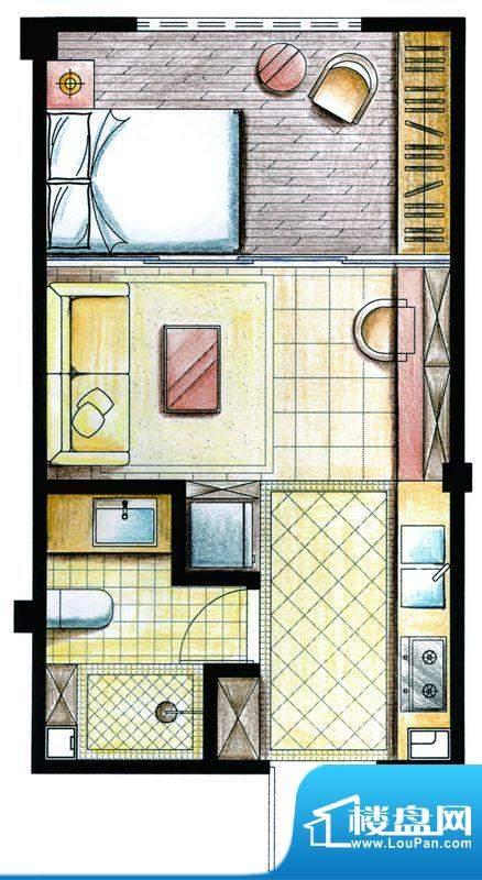 合金公寓户型图A1户型 1室1厅1面积:33.00平米