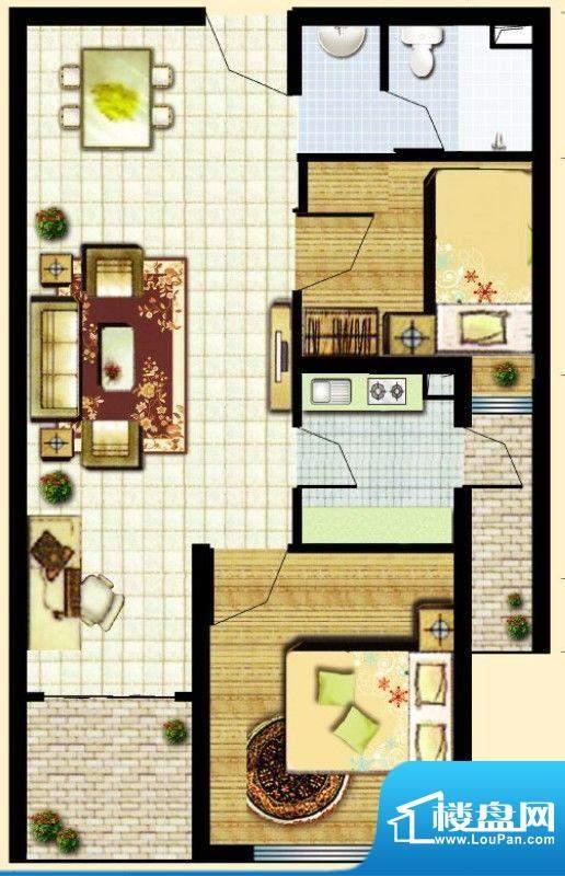 滇池柏悦户型图户型图 2室2厅1