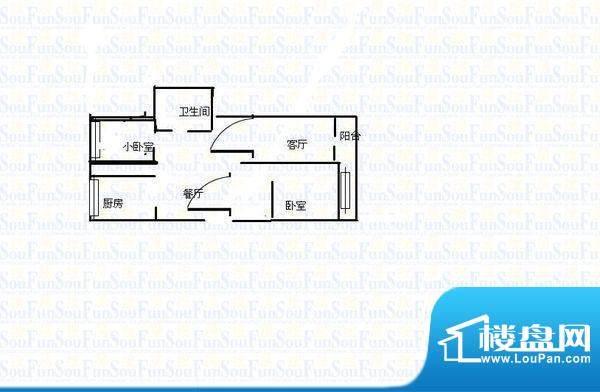 东方首座户型图600x6001 2室2厅