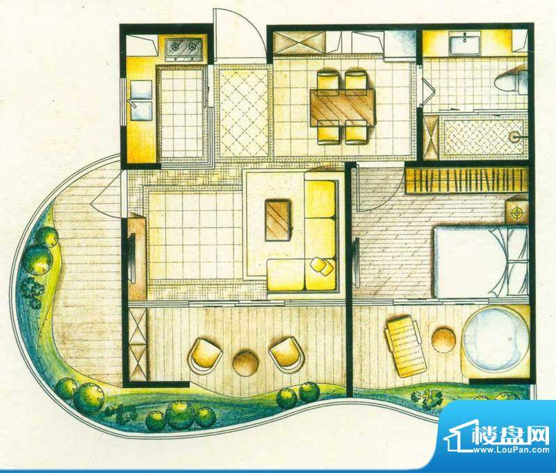 洱海国际生态城户型图沧洱全景面积:40.58平米