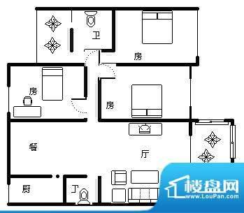 温泉山谷 4室 户型图面积:133.00平米
