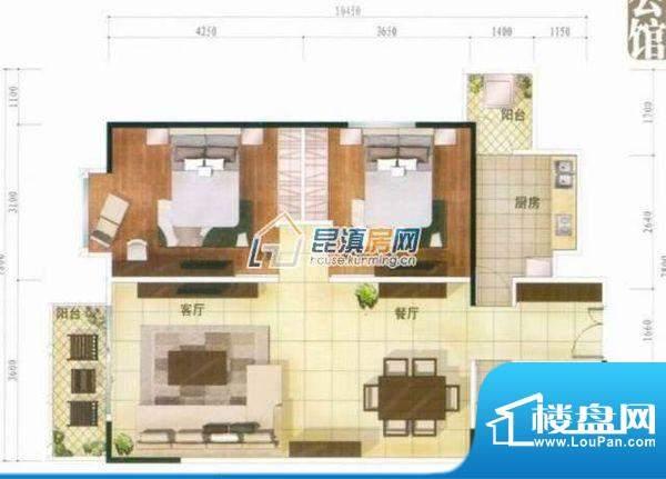 温泉山谷 3室 户型图面积:134.00平米