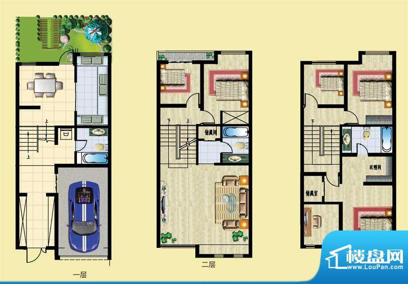 石锦邑城户型图G户型 5室2厅3卫面积:194.00平米