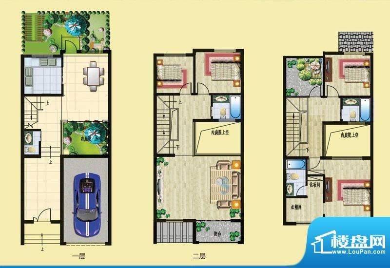 石锦邑城户型图C户型 4室2厅3卫面积:176.80平米