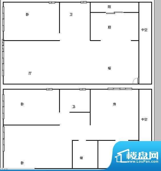 七彩俊园 4室 户型图面积:165.00平米