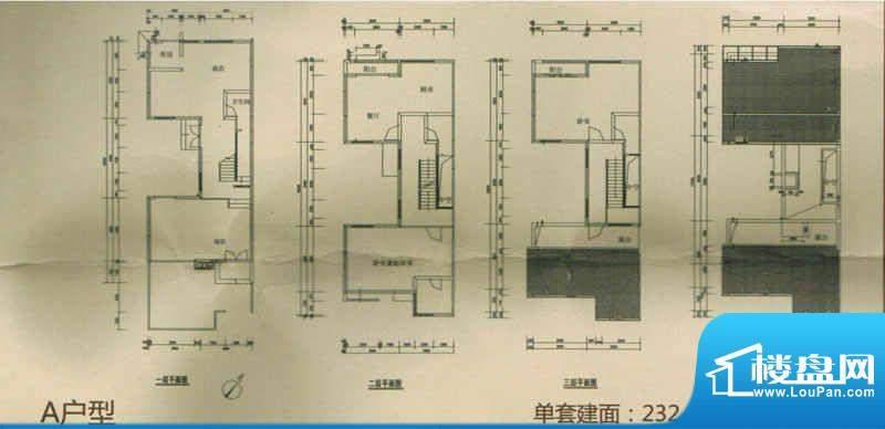 香樟十六号户型图A户型 4室3厅面积:232.44平米