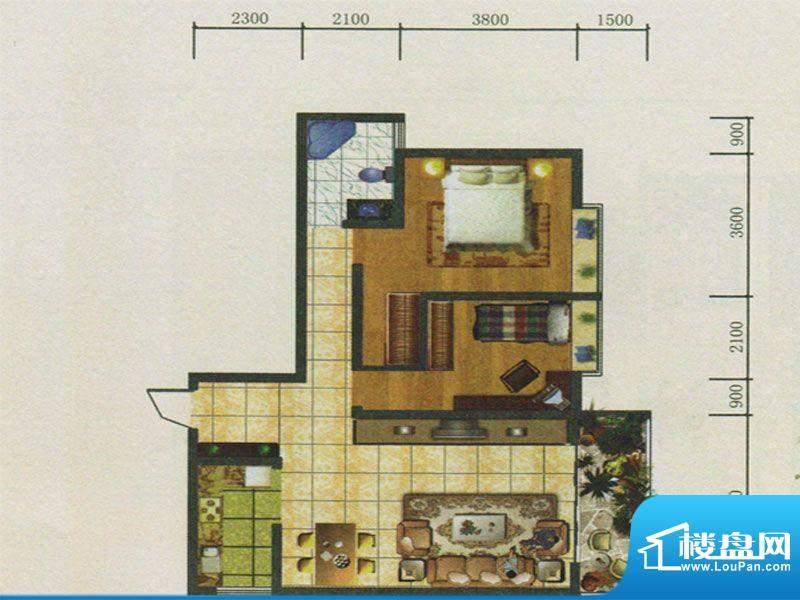春城慧谷户型图A3户型 2室2厅1面积:99.32平米