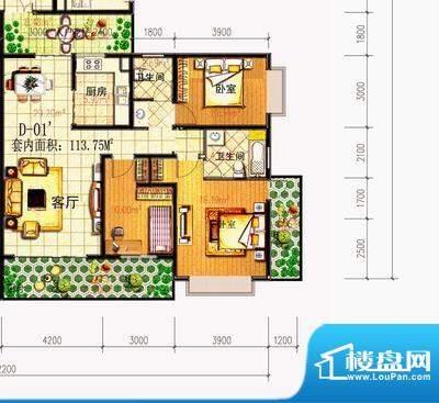 春城慧谷 3室 户型图面积:131.00平米