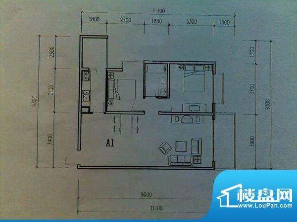 春城慧谷 3室 户型图面积:102.00平米