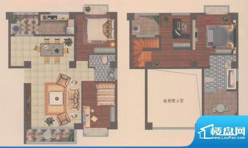 海宇花园户型图D3跃 4室2厅2卫面积:133.00平米