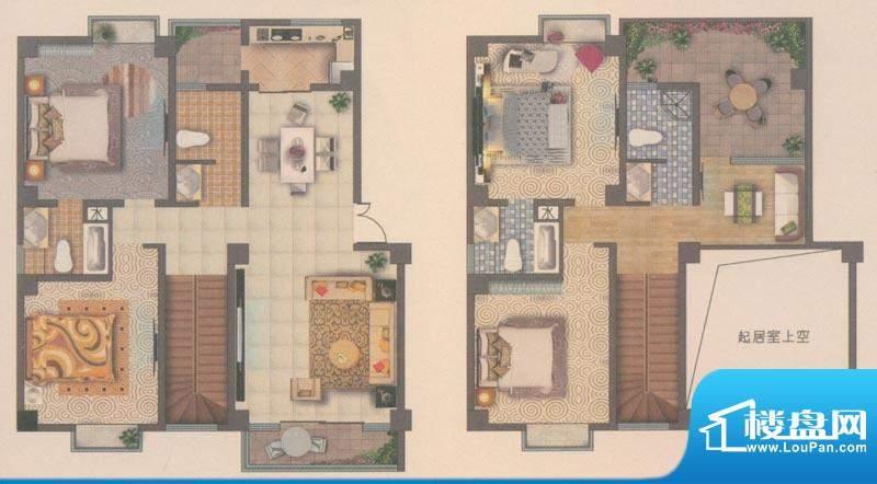 海宇花园户型图D4跃 5室2厅3卫面积:129.00平米