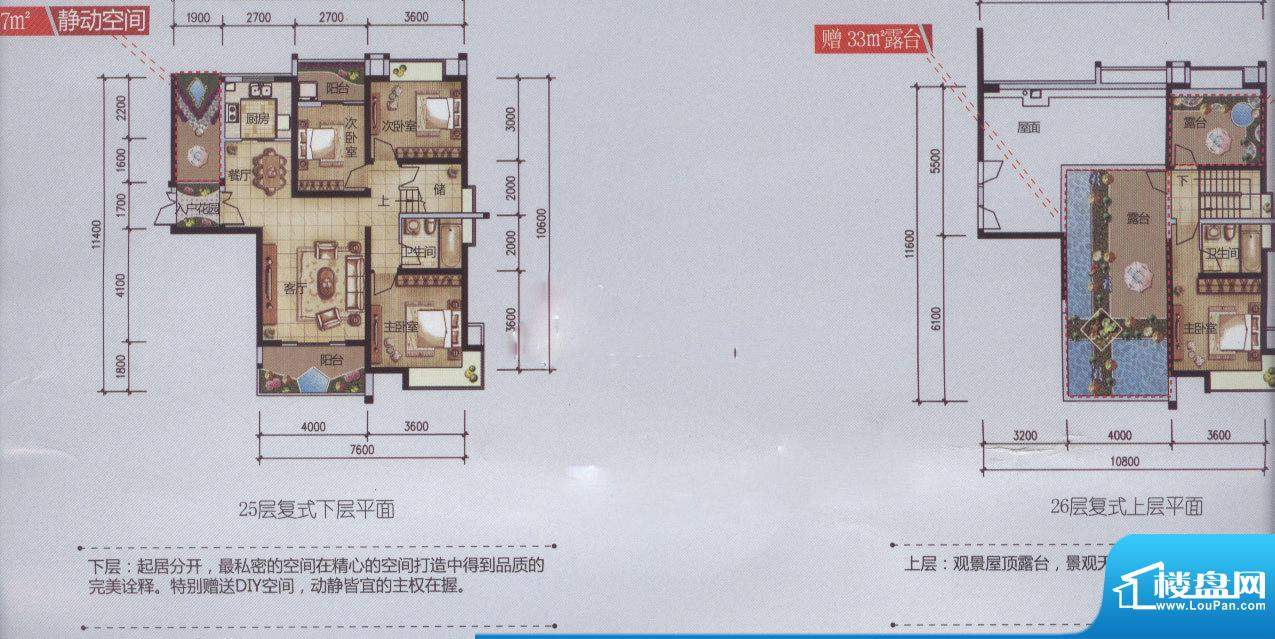 新域盛景户型图C5户型图(售完面积:146.44平米