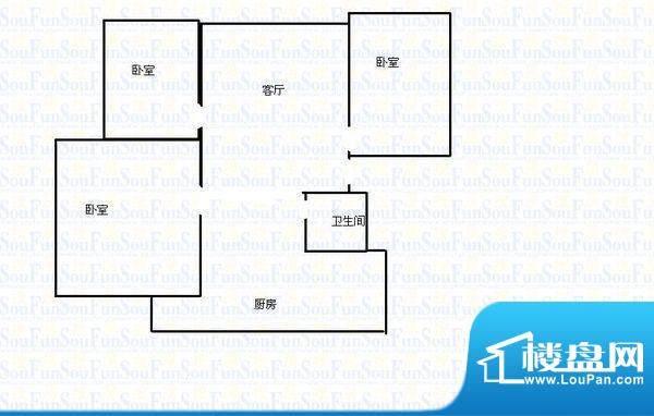 春城湖畔高尔夫户型图户型图 3面积:84.00平米