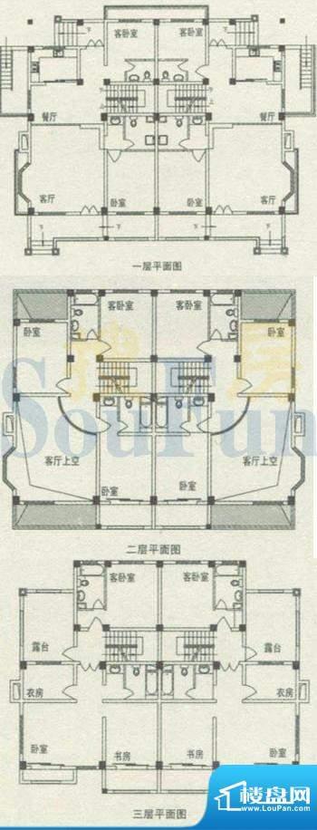 海韵枫丹户型图A户型 9室2厅6卫面积:345.05平米
