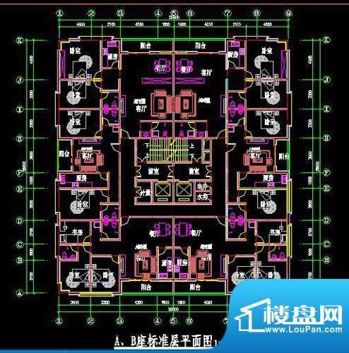 鸿安国际广场户型图AB单元标准