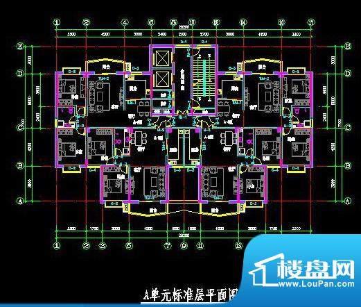 鸿安国际广场户型图A单元标准层
