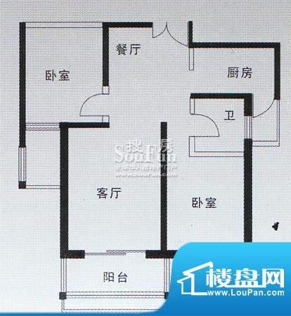 亚太嘉园户型图二期户型 101.6面积:101.61平米