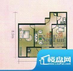 亚太嘉园户型图2室1厅1卫1厨面积:83.69平米