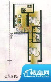 亚太嘉园户型图2室1厅2卫1厨面积:78.89平米