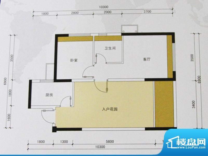 金域华府户型图1、7、8、9栋55面积:55.00平米