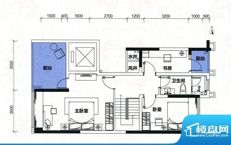 金地伊顿山户型图4栋1单元02房面积:137.44平米