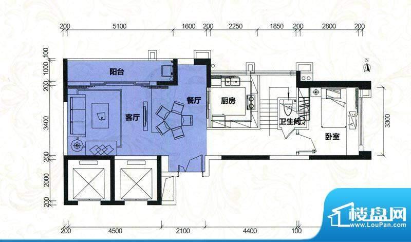 金地伊顿山户型图4栋2单元01房面积:137.17平米