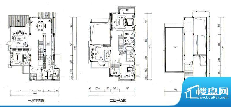 华发水郡户型图V7户型(独栋)面积:338.66平米