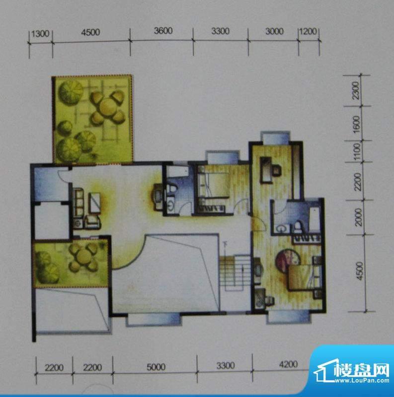 岭南世家户型图四、六栋14、15面积:300.63平米